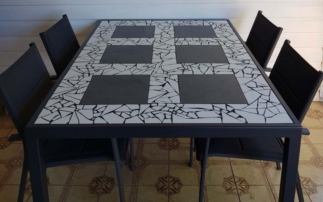 Custom Tiled Outdoor Table